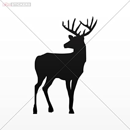 Deer Head Car Sticker Vinyl Decal Laptop Truck Door Wall Window Motorcycle Decor