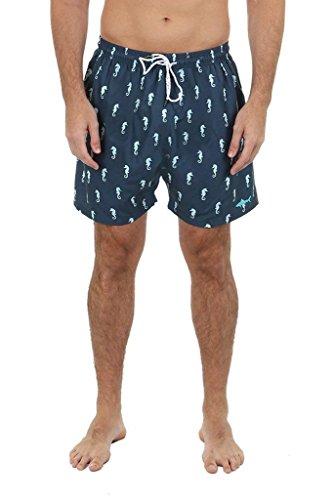 UZZI Men's Sea Horse Swim Shorts (Medium, -