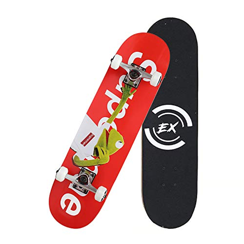 """Pro Skateboard 31"""" X 8"""" Standard Skateboards Cruiser Complete Canadian Maple 8 Layers Double Kick Concave Skate Boards (DYS-SKATE-019)"""