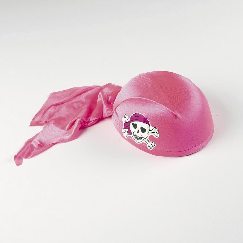 Pink Pirate Girl Scarf Hat