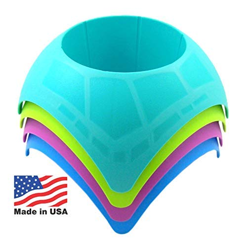 (Beach Vacation Accessory Turtleback Sand Coaster Drink Cup Holder, Assorted Colors, Pack of)