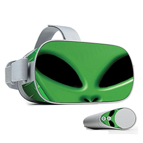 MightySkins Skin for Oculus Go Mobile VR - Alien Invasion | Protective, Durable, and Unique Vinyl Decal wrap Cover | Easy to Apply, Remove, and Change Styles | Made in The USA