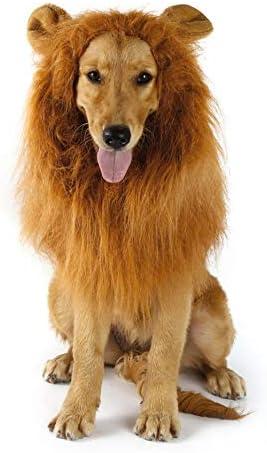 Deasengmins Disfraz de Mascota Animal Pelucas de león Melena ...