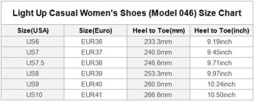 Interestprint Rose Butterfly Light Up Shoes Sneakers Lampeggianti Scarpe Basse Casual Da Donna