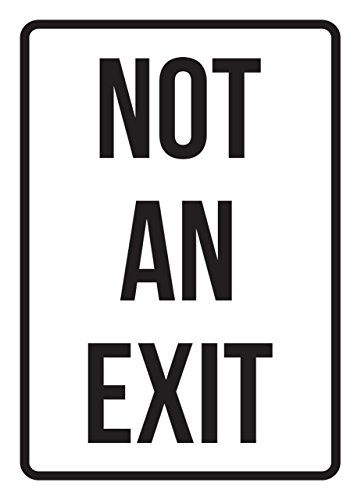 Not An Exit No Parking Business Safety Traffic Signs Black - 7.5x10.5 - Metal by iCandy Products Inc
