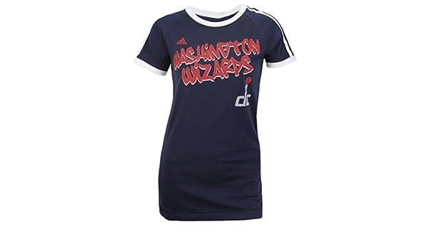 Adidas Washington Wizards de la NBA para Mujer Manga Corta raglán Camiseta, Color Azul Marino, Azul Marino: Amazon.es: Deportes y aire libre