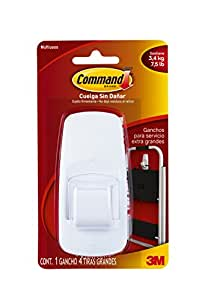 Command Jumbo Plastic Hook with Adhesive Strip