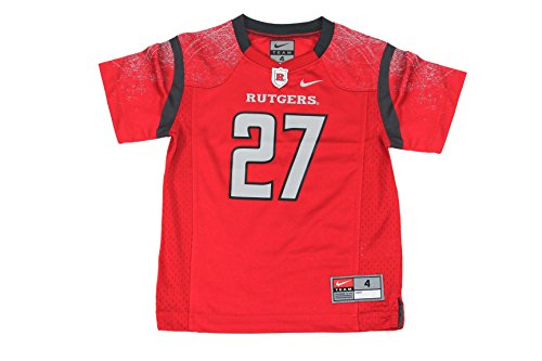 NIKE Boy's NCAA Rutgers Scarlet Knights Football Jersey 27 Red