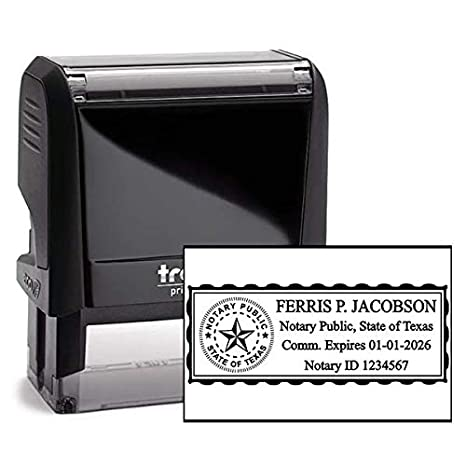 State of AlabamaCustom Rectangle Self-Inking NOTARY SEAL RUBBER STAMP