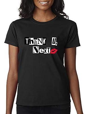 Trendy USA 1203 - Women's T-Shirt Thank U Next Lips Kiss Dating