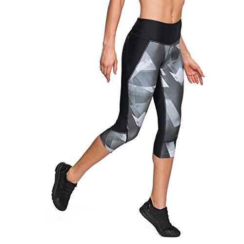 Under Armour Women's Armour Fly Fast Printed Capris, Black (005)/Reflective, Small