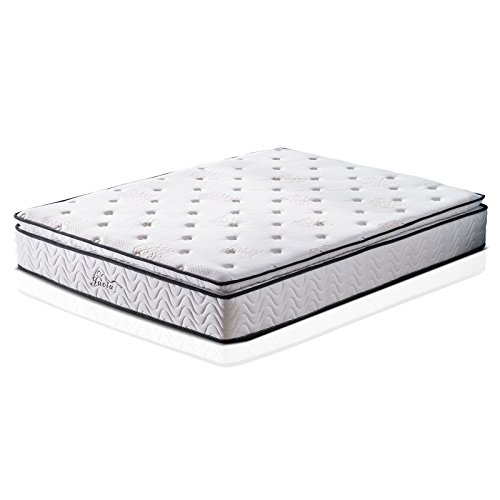 Jacia House 11.4 Inch Pillow Top Memory Foam Innerspring Independently Encased Coil Hybrid Mattress Short Queen