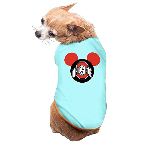 Brutus Mascot Costume (Greenday Football Logo In Mouse Cool Dog Pets Costumes Size S SkyBlue)