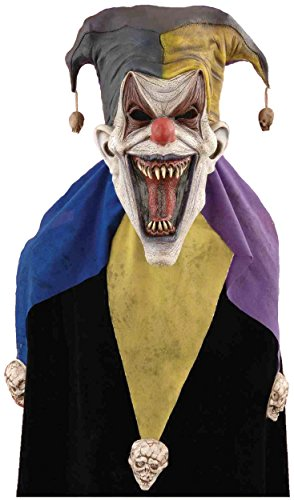 Forum Novelties Men's Evil Jester Full Mask, Multi, One Size