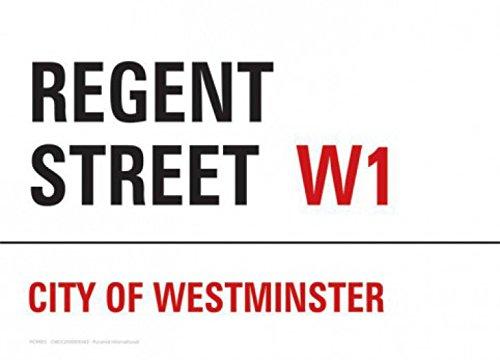 1art1 Set: London, Regent Street Postcard (6x4 inches) and 1x Surprise Sticker