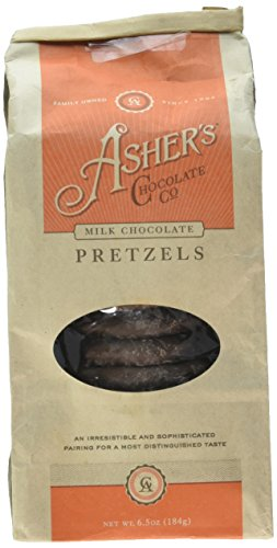 Chocolate Asher Pretzels (Asher's Milk Chocolate Smothered Pretzels, 6.5 oz.)