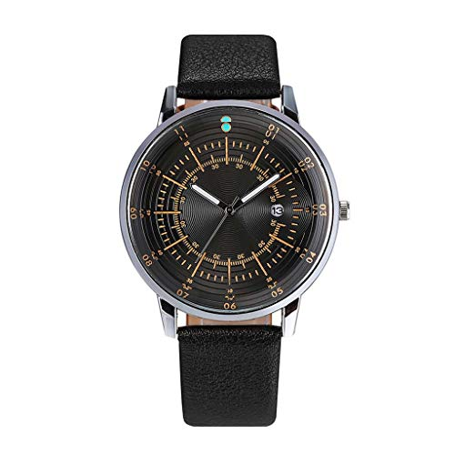 Clearance! Hot Sale! ❤ Fashion Business Simple Multi Scale Dial Calendar Belt Pin Buckle Quartz Watch for Father Men Boys Boyfriend Lover's Birthday Anniversary Gift Under 10 Dollars