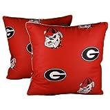 College Covers Georgia Bulldogs Decorative Pillow, 16'' x 16'', Includes 2 Decorative Pillows by College Covers