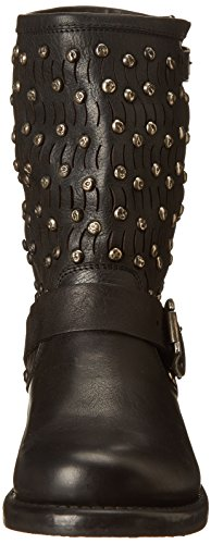 Black Jenna Frye Boot Short Stud Cut Women's wgxx5q6Y