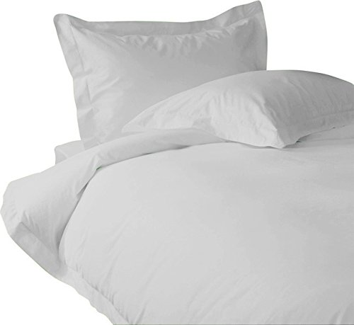 Meraki Premium Collections 100% Cotton - 600 Thread Count Solid Duvet Cover – Egyptian Quality Luxury Bedding - 1 Piece (Twin/Twin XL, White)