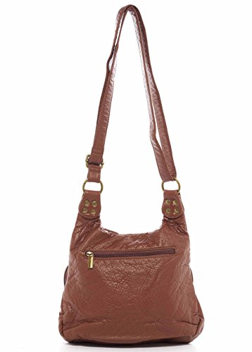 Crossbody Soft Aria Handbag Tote Hobo Ampere Brown Creations Vegan The Leather by 5wfTqpxn7q