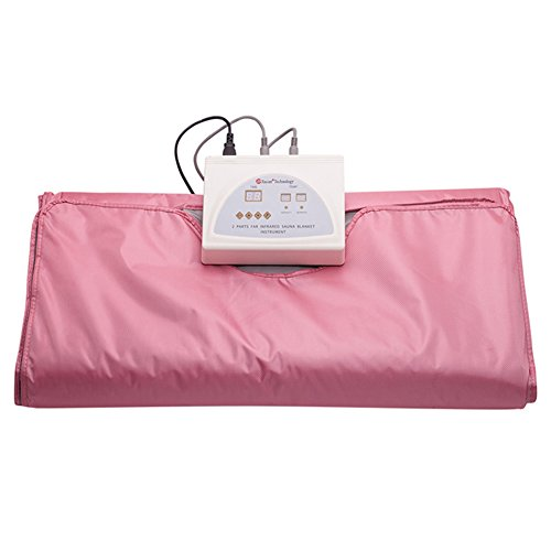 SPORT&SAUNA-Infrared Sauna Blanket Body Shaper Weight Loss Professional Slimming Blanket Detox Therapy Anti Ageing Beauty Machine,Pink