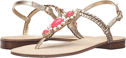 Lilly Pulitzer Women's Sole Seaurchin Sandal Gold Metal Sandal