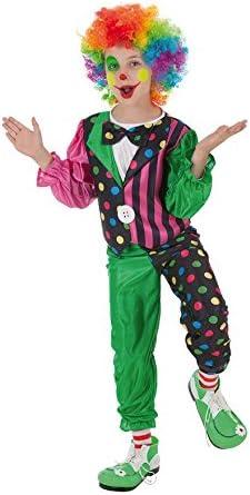 Creaciones Llopis - Disfraz de payaso rayas para niños de 3/6 años ...