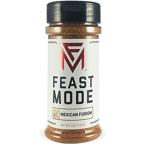 Mexican Fusion - Feast Mode Flavors - Low Sodium, No MSG, Gluten Free, All Natural, Meal Prep Seasoning , Healthy , Chile Powder , Cumin , Oregano (Best Meal Prep Seasoning)