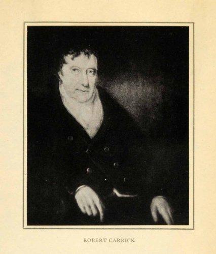 1913 Tipped-In Print Robert Robin Carrick Costume Portrait Braco Ship Bank Art - Orig. Tipped-in Print