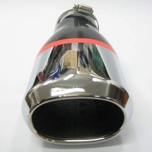 Autohobby 407 Auspuffblende Auspuff Universal Sch/älldampf Endrohr Blende Edelstahl bis 55mm /Ø Chrom