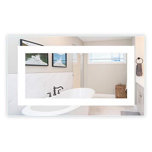 LED Front-Lighted Bathroom Vanity Mirror: 60' Wide x 40' Tall - Commercial Grade - Rectangular -...