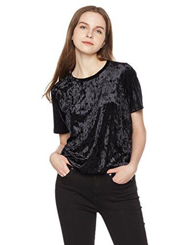Something for Everyone Women's Relaxed Fit Velvet Tee XL - Black Velvet And