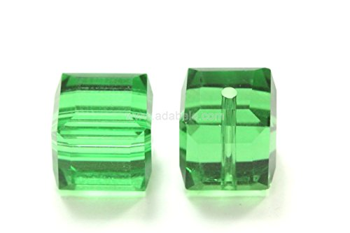 ian Cube Crystal Beads Fern Alternative For Swarovski Preciosa Crystalized 5601 #SSC815 (8mm 5601 Cube Swarovski Crystals)