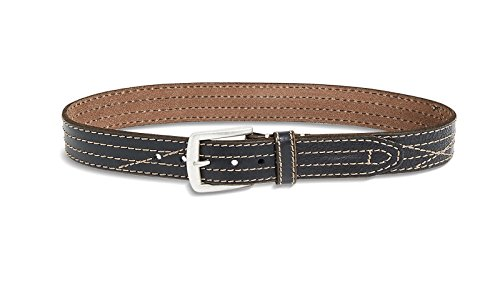 Lucky Brand - Men's - Frankie Stitched Black Leather Waist Belt (34)