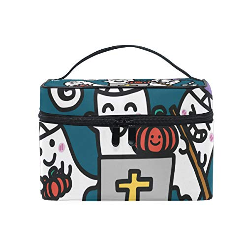 OREZI Halloween Ghost Party Cosmetic Bag Large Multifunction Makeup Travel Toiletry Travel Kit Organizer Case with Quality Zipper Portable for Makeup Bag for Women ()