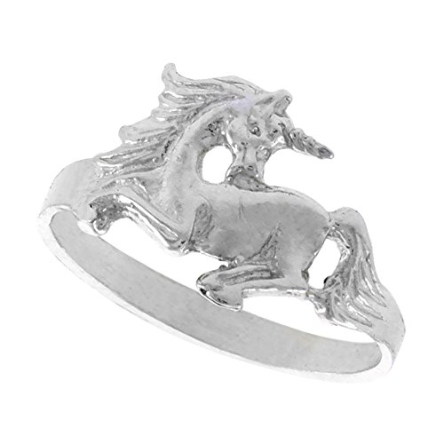 Sterling Silver Unicorn Polished finish