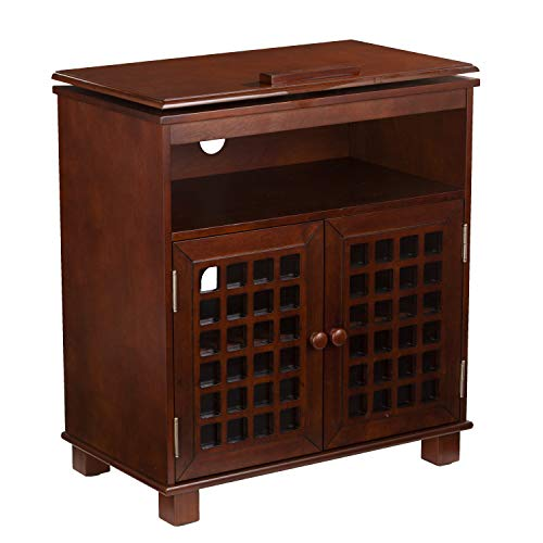 (Furniture HotSpot Swivel Top TV Stand/Small Media Cabinet - Up to 26