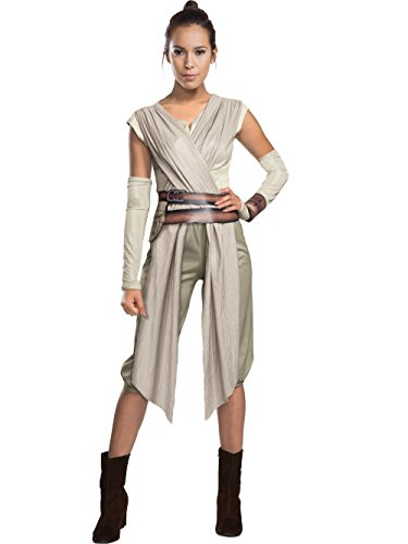 Star Wars VII: Rey Deluxe Adult Costume Beige ()