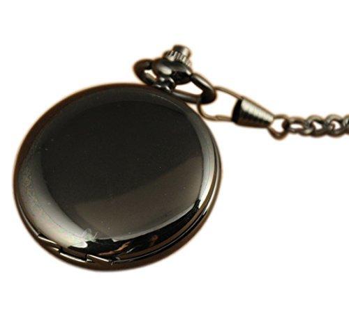 VigorosoメンズクラシックウォッチステンレススチールケースフルハンターメンズHand Winding Mechanical Pocket Watch B00TFAUW6I