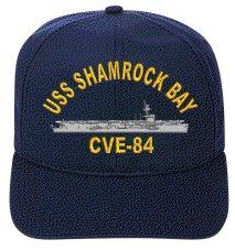 USS SHAMROCK BAY CVE-84 EMBROIDERED SHIP (Shamrock Bay)