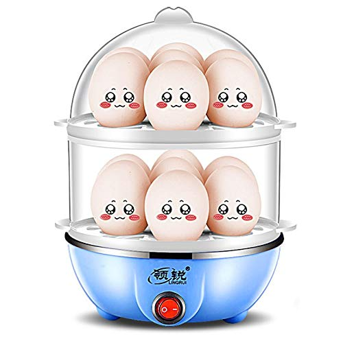 Multi Function Electric Egg Cooker 14 Eggs Capacity Removable Tray Egg Boiler Steamer Automatic Shut Off