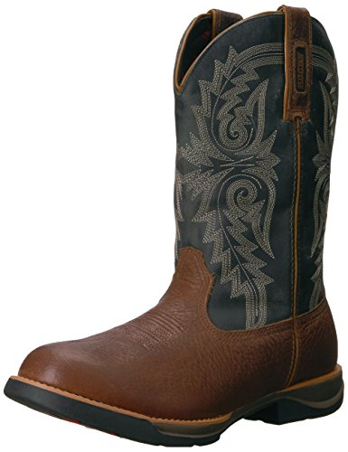 Rocky Men's RKW0210 Western Boot, Brown and Blue Grey, 10 M US (Rocky Roper Boots)