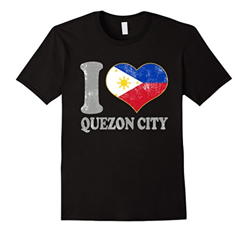 Mens Quezon City Filipino Flag Adults Teen Retro Kids Attire Cool Medium Black