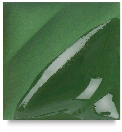 AMACO Velvet Lead-Free Non-Toxic Semi-Translucent Underglaze, 1 pt Jar, Dark Green V-353 by AMACO