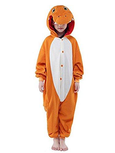 (Eamaott Childrens Charmander Costumes Animal Onesies Kids Homewear Pajamas)