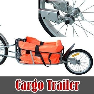 Check Out This Aosom Solo Single-Wheel Bicycle Cargo Bike Trailer, Orange