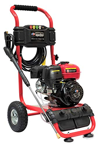 All Power America APW5119 3200 PSI 2.6 GPM Gas Pressure Washer, 30 ft High Hose, Black/Red -  J.D.North America