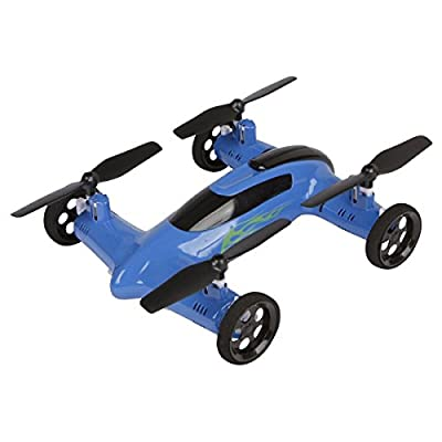 SYMA X9 RC Remote Control 2.4GHz 4-Channel 6-Axis Gyro Quadcopter Drone Car with Battery, Blue: Toys & Games