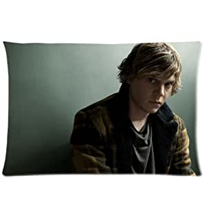 American Horror Story's Evan Peters Custom Cotton and Polyester Pillow Case Cover 20*30 ID-160 by ruishername